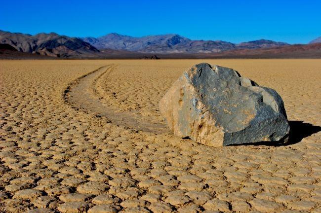 Sailing Stones of Death Valley, California: